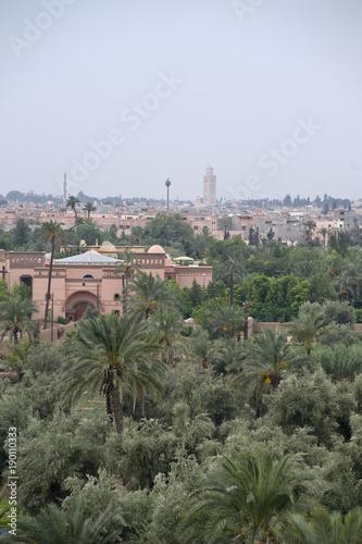 Deurstickers Marokko panoramica di marrakech marocco
