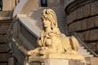 canvas print picture - Sandsteinsphinx am Wasserturm in Mannheim