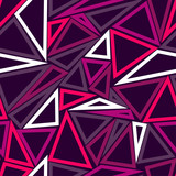 Abstract seamless sport pattern for girls, boys. Creative sport vector pattern with dots, geometric figures, triangle. Funny triangle pattern for textile and fabric. Fashion triangle sport style.