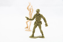 Toy Soldier Behind Another Toy Soldier Ready To Attack  Sticker