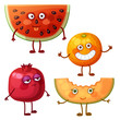 Funny fruit characters isolated on white - 190128105