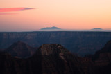 Sunset from the North Rim of the Grand Canyon in Arizona.