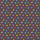Colorful jelly beans candies seamless pattern on dark background. - 190140130
