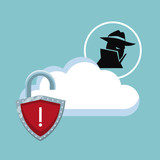 Cyber security icons icon vector illustration graphic design - 190142327