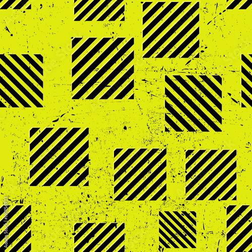 wzor-tapety,-zolte-tlo,-czarne-kwadraty