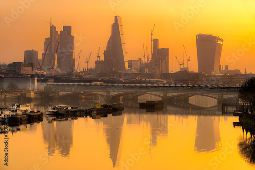 City of London skyline, London, UK Poster