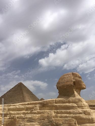 Sphinx  .Great  Pyramids  . Giza .Egypt