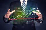 Businessman holding stock data - 190179301