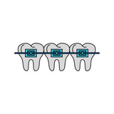 Teeths with brackets icon vector illustration graphic design - 190188184