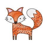 grated cute fox wild animal of the forest - 190190365