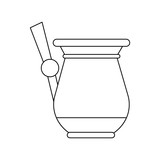 Old coffee kettle icon vector illustration graphic design