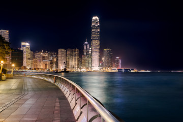 Night view of Central Plaza, Hong Kong Central Business District