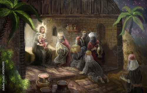 The birth of Christ © vukkostic