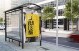 bus stop sale advertising billboard - 190198108