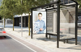 bus stop fashion advertising billboard - 190198186