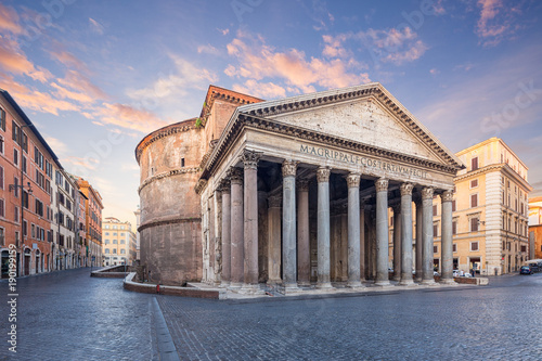 Papiers peints Rome view of Pantheon in the morning. Rome. Italy.