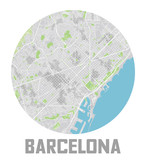 Minimalistic Barcelona city map icon. - 190207132