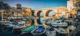 Marseille - Panoramique Vallon des Auffes / Petit port de pêche emblématique de Marseille en France - 190210792