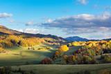 Polonina Wetlinska in Bieszczady mountains at autumn, Podkarpackie, Poland