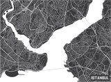 Minimalistic Istanbul city map poster design. - 190216316