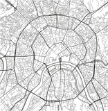Black and white vector city map of Moscow with well organized separated layers. - 190217725