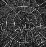 Black and white vector city map of Moscow with well organized separated layers. - 190217794