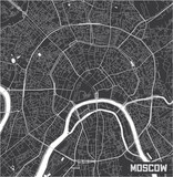 Minimalistic Moscow city map poster design. - 190218555