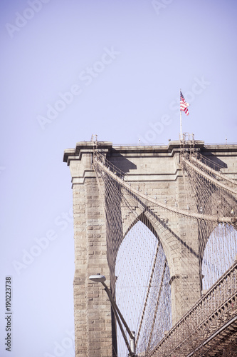 Fotobehang Brooklyn Bridge Brooklyn Bridge, New York