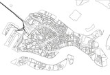 Black and white vector city map of Venice with well organized separated layers. - 190226525