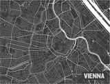 Minimalistic Vienna city map poster design. - 190228960