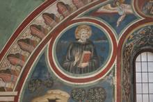 """Постер, картина, фотообои """"Fresco """"Heiliger Benedikt"""", Subiaco, Latium, Italien"""""""
