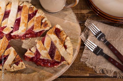 Fotobehang Kersen Slice of Cherry Pie