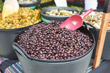 Varieties of many olives on a market in Valencia - 190237537