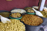 Varieties of many olives on a market in Valencia - 190237581