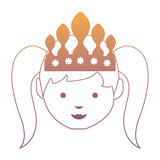 cartoon princess icon