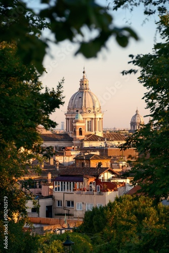 Foto op Canvas Rome Dome and woods