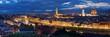 Quadro Florence skyline night panorama
