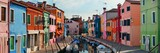 Colorful Burano canal panorama view - 190244352
