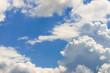 Quadro White clouds on blue sky