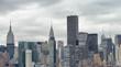 New York City, USA. Amazing aerial Manhattan view at sunset