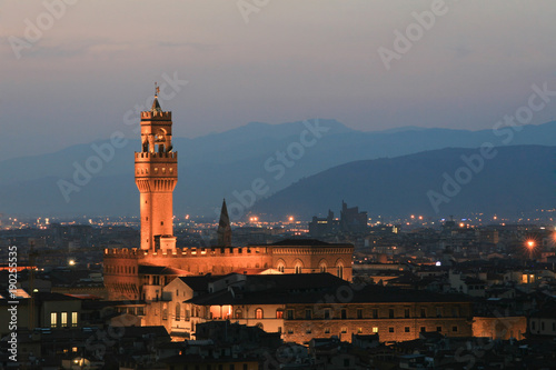 Papiers peints Florence Summer. Night. Italy. Florence. Panoramic view of the city.