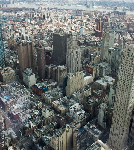 Foto op Aluminium New York Manhattan from the sky