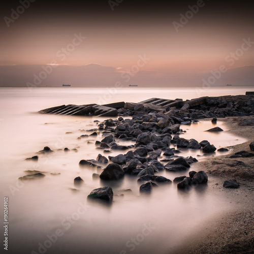 Seascape long exposure_