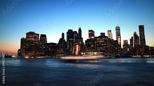 Foto op Aluminium New York Newyork over light trails