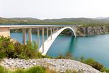 bridge over the sea strait in Croatia