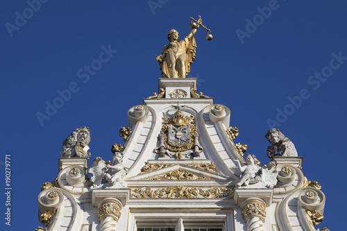 Fotobehang Brugge Stadhuis van Brugge - Bruges - Belgium