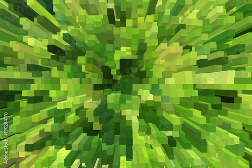 Fotobehang Abstractie creative yellow and green abstraction