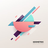 Abstract geometric background. Vector illustration. - 190290335