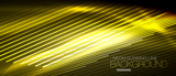Neon smooth wave digital abstract background - 190294366