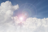 Sun shining in clouds - 190294921